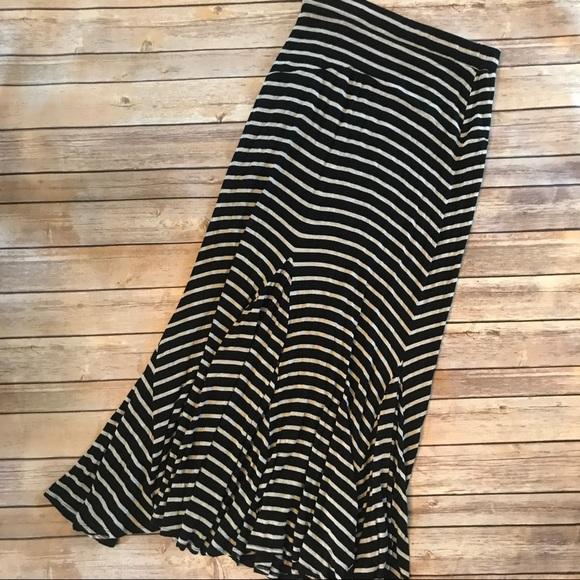 Anthropologie Dresses & Skirts - Anthropologie • Bordeaux striped maxi skirt